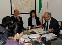 Picture of Professor Giorgio Vittori and Jacqueline Veit
