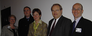 Picture of Lone Hummelshoj, John Ryan, Diana Wallis MEP, John Bowis and Robert Music