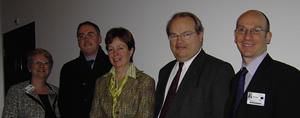 Picture of Lone Hummelshoj, John Ryan, Diana Wallis MEP, John Bowis and Robert Music