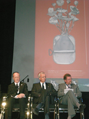 Picture of David Healy, Prof Hans Evers and A/Prof Peter Maher at the WCE 2008 opening