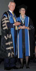 RCOG President Professor David Richmond with WES President Professor Linda Giudice